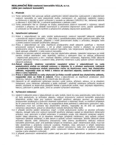 Reklamační řád CK_001